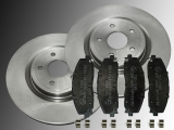 Front Brake Rotors 330mm Ceramic Front Brake Pads Chrysler Pacifica 2017-2020