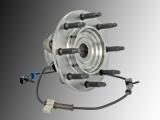 1 Front Wheel Bearing and Hub Assembly incl. ABS Sensor Hummer H2 V8 6.2L 2008-2009