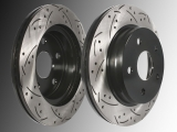 Slotted and Drilled Front Brake Rotors Chrysler Aspen 2007-2009