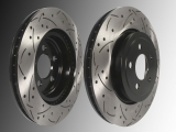 Front Slotted and Drilled Brake Rotors Dodge Magnum 2005-2008 Rotors with 345mm Diameter