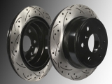 Rear Slotted and Drilled Brake Rotors Chevrolet Avalanch 2007-2013