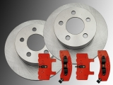 2 Front Brake Rotors Front Brake Pads Chevrolet Astro 4WD 1990-2002