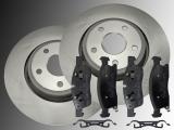 2 Front Brake Rotors Ceramic Front Brake Pads Dodge Durango 2011-2020 350mm Outside Diameter