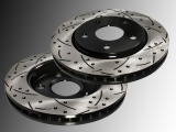 2 Front Slotted and Drilled Brake Rotors 302mm Dodge Journey 2009-2012 Light Duty