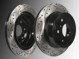 2 Front Brake Rotors slotted drilled Cadillac CTS V6 3.6L, L4 2.0L 2014-2019 321mm Sedan