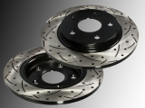 2 Rear Brake Rotors slotted and drilled 305mm Dodge Journey 2009-2013