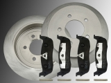 2 Rear Brake Rotors Ceramic and Rear Brake Pads Ford F-150 1997-2003 5 Bolt Holes 12mm