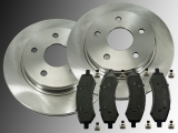 Front Brake Rotors and Ceramic Front Brake Pads Chrysler Aspen 2007-2009