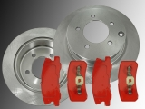 Rear Brake Rotors 302mm Rear Brake Pads Jeep Compass 2006-2017