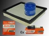 Inspektion Kit Oil Filter Air Filter Spark Plugs Jeep Grand Cherokee 4.0L WJ WG 1999-2004