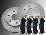 Front Brake Rotors and Ceramic Front Brake Pads Chevrolet Astro VAN V6 4.3L 2003-2005