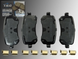 Ceramic Rear Brake Pads Dodge Grand Caravan 2008-2011 with 303mm Rotors