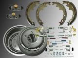 Rear Brake Drum, Rear Brake Shoes, Wheel Cylinder, Hardware Kit incl. Adjuster Jeep Wrangler TJ 1997-2000 with ABS