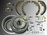 Rear Brake Drum, Rear Brake Shoes, Wheel Cylinder Hardware Kit incl. Adjuster Jeep Wrangler YJ  1990 - 1995