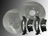 Front Brake Rotors Ceramic Front Brake Pads Pontiac Trans Sport 1992-1996