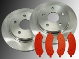 Front Brake Rotors and Front Brake Pads Chrysler Aspen 2007-2009