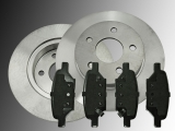 2 Bremsscheiben Keramik Bremsklötze hinten Chevrolet HHR 2008-2010