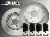 Rear Brake Rotors Rear Brake Pads Dodge Charger 2006-2019 Solid Rear Rotor