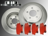 Rear Vented Brake Rotors and Brake Pads Dodge Charger 2006-2019