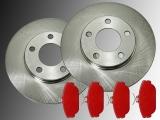 2x Brake Rotors and Brake Pad Set Ford Taurus V6 1994-2000