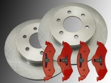 2 Front Brake Rotors and Front Brake Pads Dodge Durango 2000 - 2002