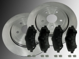 Front Brake Rotors 302mm and Ceramic Brake Pad Set Dodge Nitro 2007-2012