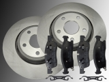 Front Brake Rotors 350mm and Ceramic Front Brake Pads Dodge Durango 2011-2014