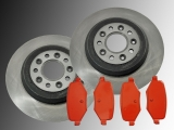 Rear Brake Rotors Rear Brake Pads Ford Flex V6 3.5L 2011-20139