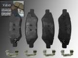 Ceramic Rear Brake Pads Chevrolet Camaro 3.6L V6 2010 - 2014