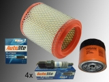 Oil Filter, Air Filter, 4 Spark Plugs Autolite Platin USA Chrysler Sebring 2.0L , 2.4L 2001-2006