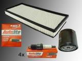 4 x Zündkerze Ölfilter Luftfilter Inspektions Kit Jeep Wrangler TJ 2.5L 1997-2002