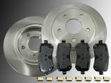 2 Bremsscheiben 305mm Satz Keramik Bremsklötze hinten Chrysler Grand Voyager RT 2008-2012