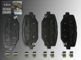 Ceramic Rear Brake Pads Chrysler Grand Voyager Lancia Grand Voyager 2011-2015 Rotors 328mm