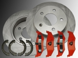 2x Rear Brake Rotors, Rear Brake Pads and Parking Brake Shoes Jeep Grand Cherokee 1995-1998