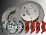 2x Rear Brake Rotors , Rear Brake Pads and Parking Brake Shoes Hardware Dodge Caravan, Grand Caravan 2001-2007
