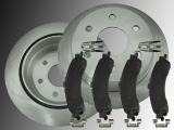 Rear Brake Rotors and Ceramic Rear Brake Pads Chevrolet Tahoe 4WD 2000-2006