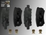 Ceramic Rear Brake Pads Dodge Avenger 2008-2015 262mm Rotors