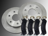 Front Brake Rotors and Ceramic Front Brake Pads Chevrolet Tahoe 2000-2006