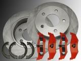 Rear Brake Rotors, Rear Brake Pads, Parking Brake Shoes Chrysler Stratus 1995-2000
