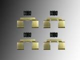 Hardware für Bremsklötze Haltebleche Buchsen vorne Chrysler PT Cruiser 2000-2010