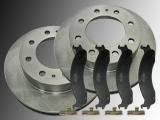 2 Front Brake Rotors and Ceramic Front Brake Pads Dodge RAM 2500 3500 Pickup 2000-2002