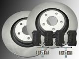 Rear Brake Rotors 350mm Ceramic Rear Brake Pads Jeep Grand Cherokee SRT8 2005-2010