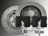 Slotted Rear Brake Rotors Ceramic Brake Pads Dodge Charger SRT8 2006-2020