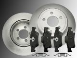 2 Volle Bremsscheiben Keramik Bremsklötze hinten Jeep Grand Cherokee WK 2011-2020