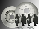 Solid Rear Brake Rotors Ceramic Rear Brake Pad Dodge Durango 2011-2016