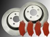 2 Bremsscheiben Bremsklötze vorne Dodge Nitro 2007-2012 332mm Durchmesser