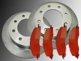 Front Brake Rotors Front Brake Pads Dodge Ram 2500 3500 2009-2010