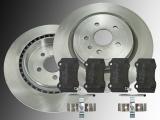 2 Bremsscheiben Keramik Bremsklötze hinten Chevrolet Camaro SS 6.2L 2010-2019