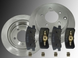 Rear Brake Rotors 302mm Ceramic Rear Brake Pads Chrysler Sebring 2007-2010