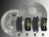 Rear Brake Rotors 302mm and Ceramic Rear Brake Pads Dodge Avenger 2008-2014